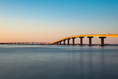 Sunset Light on the Longport Bridge