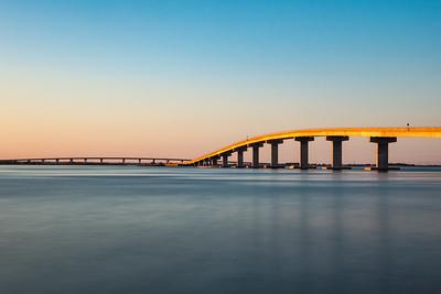 Sunset Light on the Longport Bridge