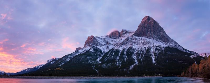 Sunrise over Banff, AB - Ha Ling Peak and Mt. Lawrence Grassi