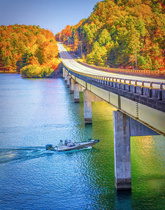 Lake keowee Autumn Fishing
