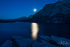 Moonrise Over St. Mary Lake