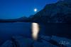 Moonrise Over St. Mary Lake