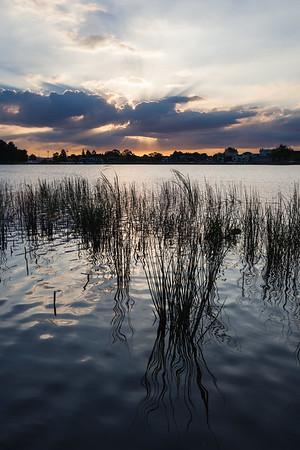 Lake Rotoroa at sunset, Hamilton