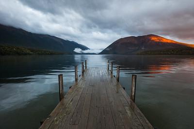 Lake Rotoiti jetty & Mount Robert, St Arnaud, Nelson Lakes National Park
