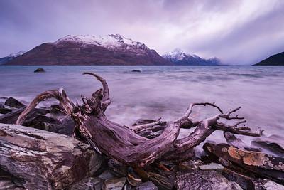 Lakeshore, Lake Wakatipu and Cecil Peak