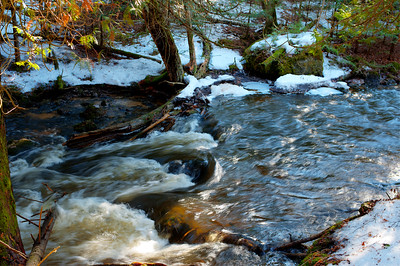 Spring melt along the Rock River in Carnegie Woods - Naubinway, MI  -  March, 2012