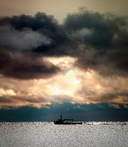 Commercial Fishing Boat in October - Naubinway, Michigan