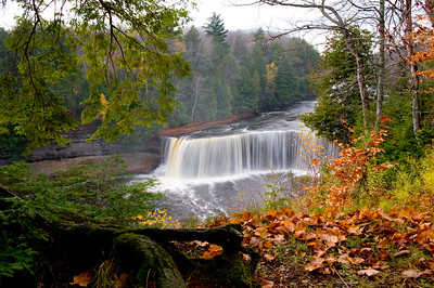 October view of the Upper Tequamenon Falls.
