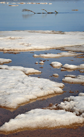 Melting Ice at the mouth of the Rock River - Naubinway, MI.