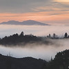 Dawn, Mt. Diablo in the Fog