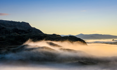 Sunrise near Old Man of Coniston