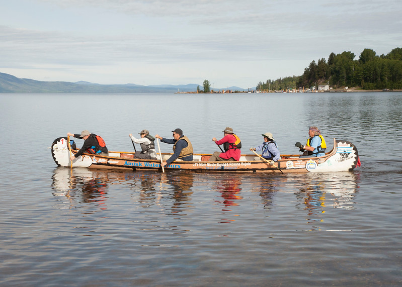 Rendezvous Canada 150: British Columbia - Lake Amisk Voyageurs on Stuart Lake, Fort St. James