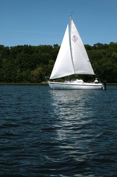 This looks like fun! Coronado sailboat on Crooked Lake.