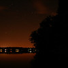 Crooked Lake at night