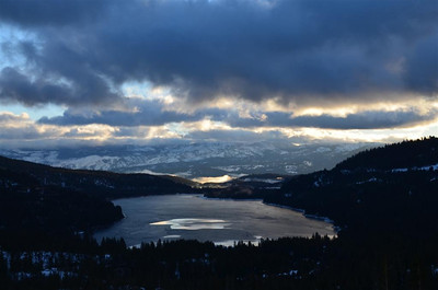 Early Morning view of Donner Lake from the view point.