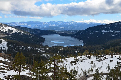 Donner Lake from the overview point.