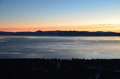 Sunset at Lake Tahoe at the overview - January 21, 2013