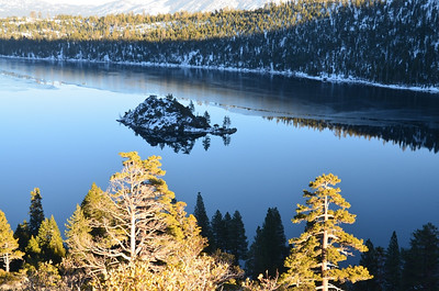 The island at Emerald Bay - January 21, 2013