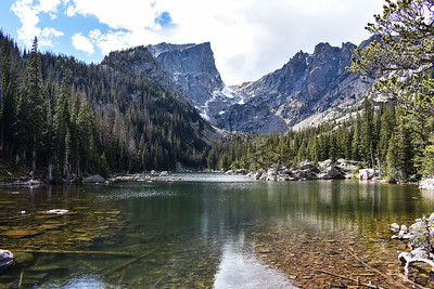 Alpine lake in Rocky Mountain National Park, Colorado
