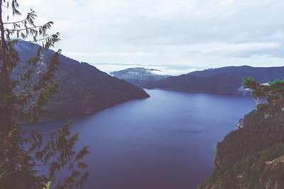 Crescent Lake from Mount Storm King, Olympic National Park, Washington