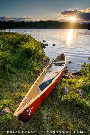 Sunset on Canoe