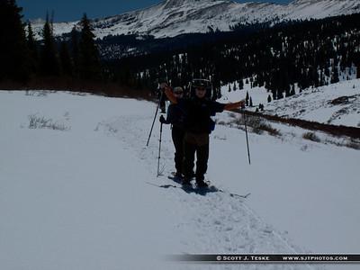 Fun snowshoeing