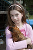 Claire with Chickens 017