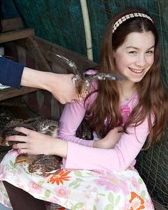 Claire with Chickens 004