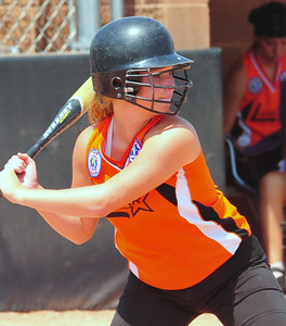 Lamar's Alex Choat at bat during the 2014 Babe Ruth 16U Midwest Plains Regional played July 17-20 at Citizen's Field in Lamar.