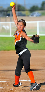 14U Lamar pitcher Laci Coen fires a pitch during action in the 14U Midwest Plains Regional Tournament