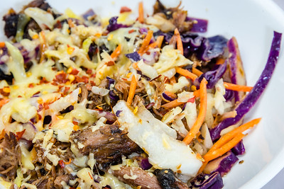 Pulled lamb and coleslaw