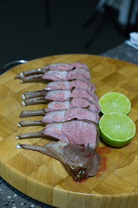 Rack of lamb cutlets cut and separated
