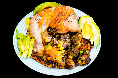 Chicken Maryland with vegetables