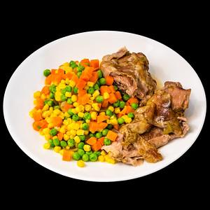 Slowly roasted lamb shoulder with vegetables