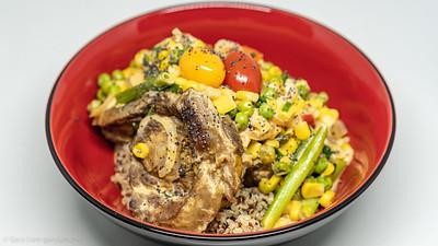 Saturday dinner. Curry lamb neck and quinoa.