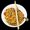 East meets west fried rice