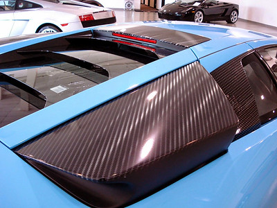 Custom carbon fiber wrap on a Lamborghini LP640 in Dallas, TXwww.skinzwraps.com