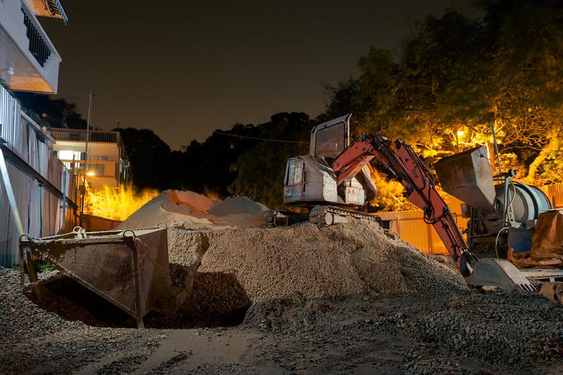 Excavator in Lamma project.