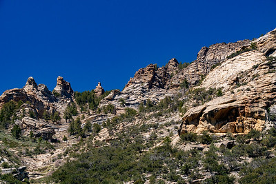 Rugged Peaks of the Ruby Mountains in Lamoille Canyon