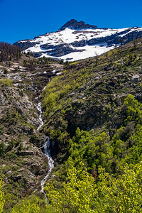 Seasonal Waterfall From the Melting Snow of the Ruby Mountains