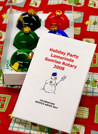 Lamorinda Sunrise Rotary Christmas Party, Dec. 12, 2008
