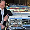 Dave Watson and his prized 1963 Chevrolet Impala convertible, beautifully restored to what may be better than showroom-new. The car was purchased by Dave's father, who used it to drive Dave home from hospital after he was born. It's remained in family ever since. It will be among the cars on exhibit at LSR Motorama fundraiser on June 20, 2010.