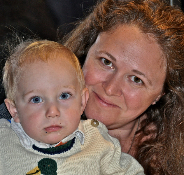 Jim Brencic's wife Ceara and younger son Jack.