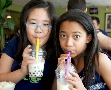 Drinking Bubble Tea