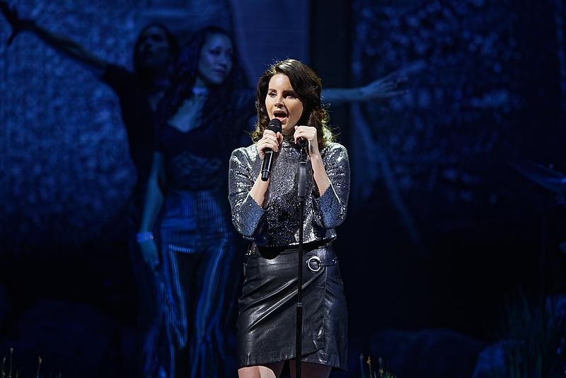 . Lana Del Rey live at Little Caesars Arena on 1-17-2018.  Photo credit: Ken Settle