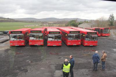 Canavan Auchinstarry Fleet Line Up Depot Auchinstarry 1 Mar 14