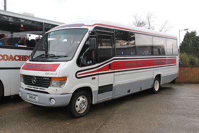 Anns Coaches Kirkintilloch 3401AC Depot Waterside Mar 14