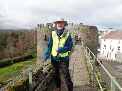 Brian at the impressive Castle Conwy