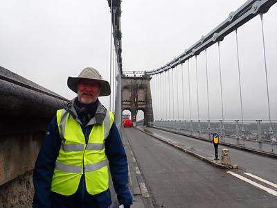 The Menai Suspension Bridge onto the Island of Angelsay