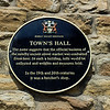 Town's Hall Plaque